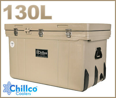 130L Chillco Ice Box Cooler Chilly Bin Superior Ice Retention - Rrp $520