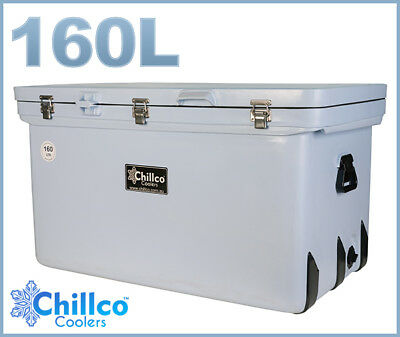 160L Chillco Ice Box Cooler Chilly Bin Superior Ice Retention - Rrp $520