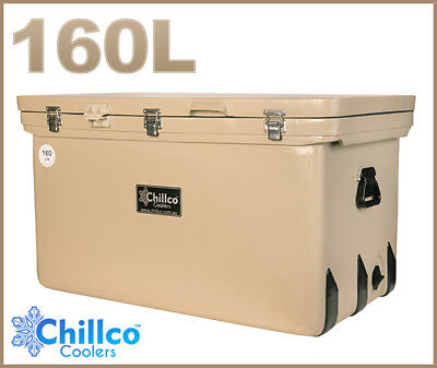 160L Chillco Ice Box Cooler Esky Chilly Bin Superior Ice Retention - Rrp $520