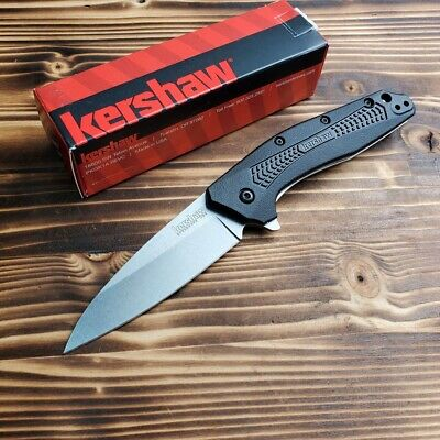 Kershaw 1812 Dividend Black GFN Handle 420HC Assisted Open Folding Knife New