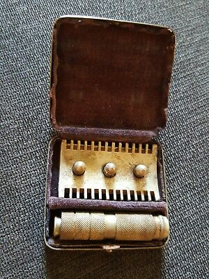 Vintage HOFFRITZ ? Open Tooth Travel German SAFETY RAZOR with Box Germany Great