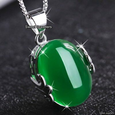 Rare Green Stone Necklaces Xmas Gifts For Her Mother Daughter Lady Sister Women