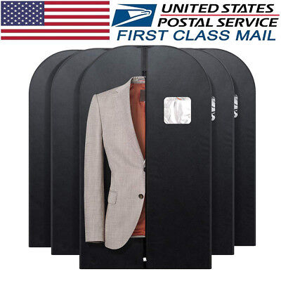 Suit Garment Bag for Storage or Travel Suit Covers w/ Clear Window 5PACK 40INCH