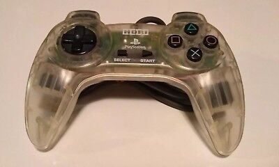 Clear HORI Sony Playstation PS1 Controller - Digital Hori Pad II Made In Japan