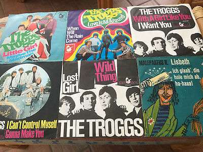 6x Troggs 1966 1967 Hansa Singles Love is all around wild Thing Little Girl  7""