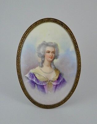 Sevres porcelain plaque. Marie Antoinette. Dated 1844.