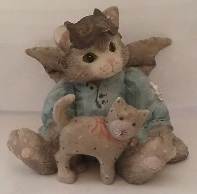 Calico Kittens Halloween THERE'S NO MASKING OUR FRIENDSHIP  figurine ENESCO