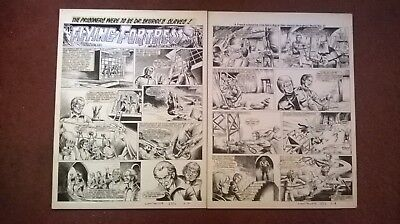 LION/THUNDER Original comic art - The Flying Fortress x2 pages - Full episode