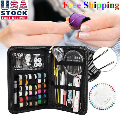 134pcs/Set Sewing Kit Scissors Needle Thread for Home Stitching Hand Sewing Tool