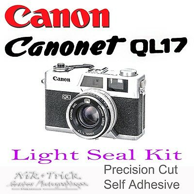 Canonet G17 QLIII ~ Precision New Cut Light Seal Kit ~ Enough for 3x Cameras!