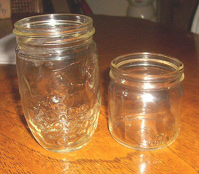 Vintage two jars And one is half pint jar that took the old snap on lid