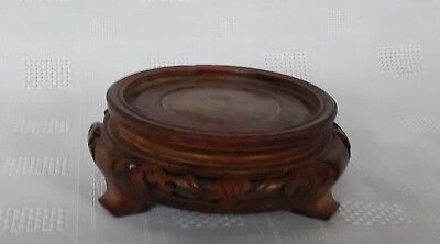 Antique Chinese Wooden Carved Pot Stand Circa 19th Century Small Size a/f