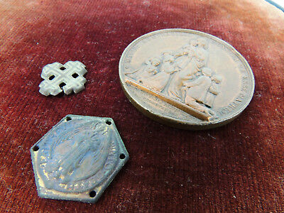 Antique Christian 19th century metal detector finds
