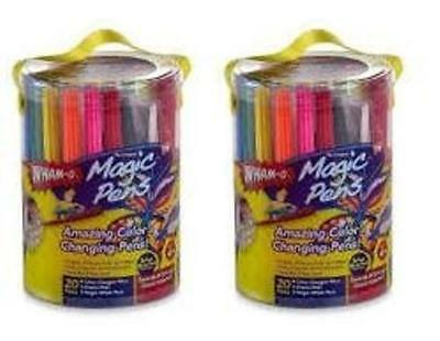 2 Pack Magic Pens Markers As Seen on TV 20 Color Changing Pens Stencils Storage