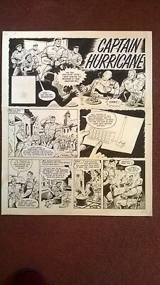 VALIANT Original comic art - Captain Hurricane - Story Header Page