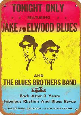 """7"""" x 10"""" Metal Sign - The Blues Brothers Gig - Vintage Look Repro"""
