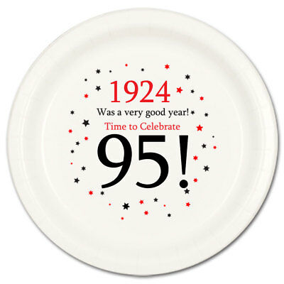 Happy 95th Birthday Age 95 1924 Party Supplies DESSERT CAKE PLATES