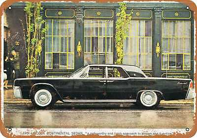 """7"""" x 10"""" Metal Sign - 1961 Lincoln Continental - Vintage Look Repro"""