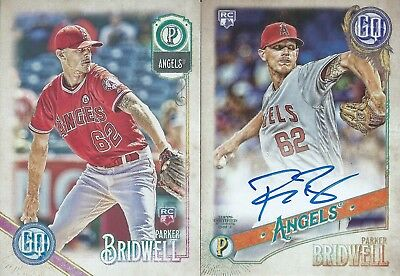 2018 Topps Gypsy Queen Lot Base Autographed RC Parker Bridwell Angels MLB