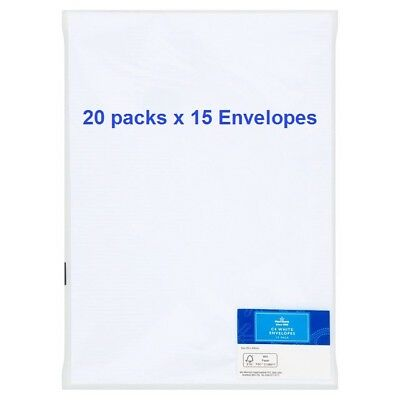 300 x C4/A4 PLAIN WHITE PEEL & SEAL ENVELOPES 229 x 324mm