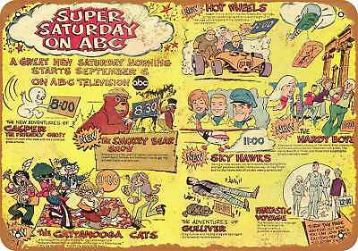 """7"""" x 10"""" Metal Sign - 1969 Super Saturday on ABC - Vintage Look Repro"""
