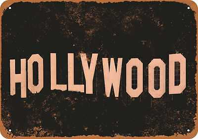 "7"" x 10"" Metal Sign - Hollywood - Vintage Look Repro"