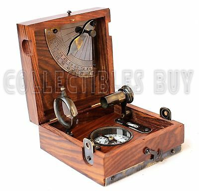 Maritime Marine Compass & Telescope Six item Nautical Antique Brass Instrument