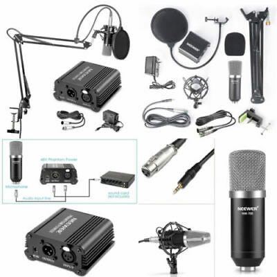 NW 700 Professional Condenser Microphone NW-35 Suspension Boom Arm XLR Cable Kit