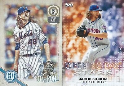 2018 Topps Gypsy Queen Base & Opening Day Stars Lot Jacob deGrom Mets MLB