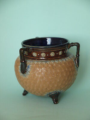 Antique Royal Doulton Stoneware Cauldron