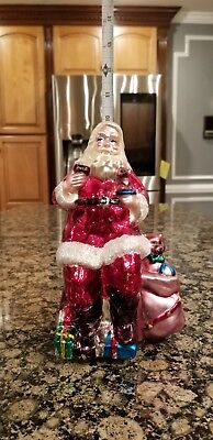 Coca Cola Vintage 1999 Santa Claus mercury glass table top figurine christmas