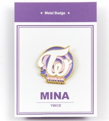 K-POP TWICE Official Goods MINA Metal bedge free shipping