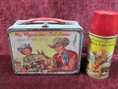 1950's Roy Rogers and Dale Evans Double R Bar Ranch Lunchbox with Thermos