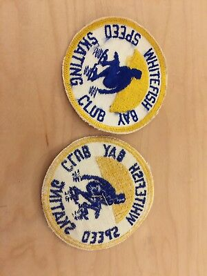 whitefish bay , wisconsin,speed skating club, patch, new old stock, 1970's