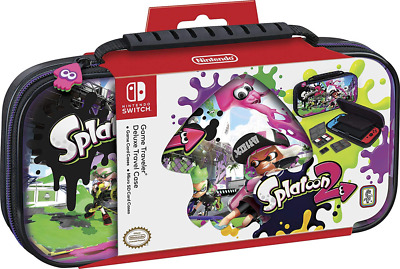 Nintendo Switch Splatoon Carrying Case – Protective Deluxe Travel PU Leather Ext