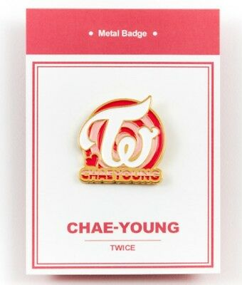 K-POP TWICE Official Goods Chae young Metal bedge free shipping