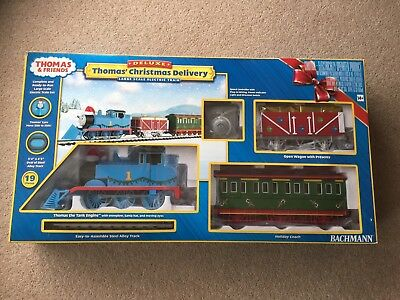 Thomas Christmas Train Set.Bachmann Thomas Christmas Delivery Deluxe Electric Train Set Large G Scale New