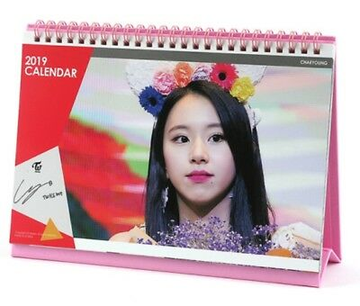 K-POP TWICE Official Goods Chae young table calendar 2019-2020 years free ship