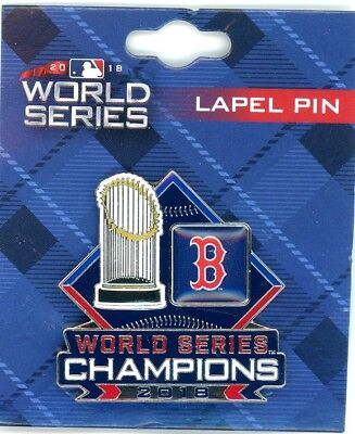 Red Sox 2018 World Series Champions Trophy Pin Champs MLB Boston PSG