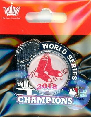 Red Sox 2018 World Series Champions Trophy Pin Champs MLB Boston BoSox AMINCO