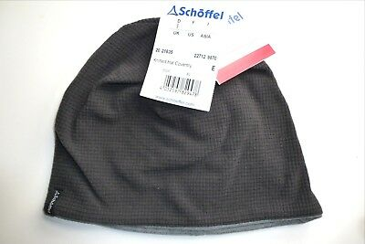 SCHOFFEL of Germany Charcoal Lightweight Skull BEANIE HAT Toque UNISEX Tag AUC1