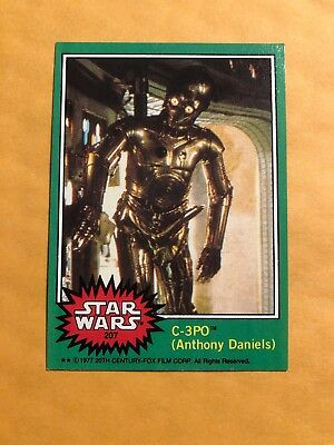 Vintage 1977 Topps Star Wars #207 C-3PO X-Rated Error Card FREE SHIPPING!!!!!!!!
