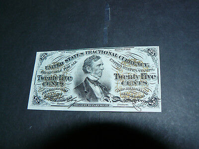 1863 AU 25 Cents 25c Fractional Currency Third Issue mint condition