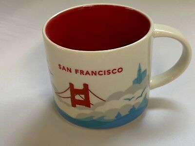 Starbucks Mug Coffee Cup San Francisco You Are Here Collection NEW with sticker