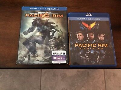 Pacific Rim 1 And Pacific Rim Uprising Blu Ray/DVD