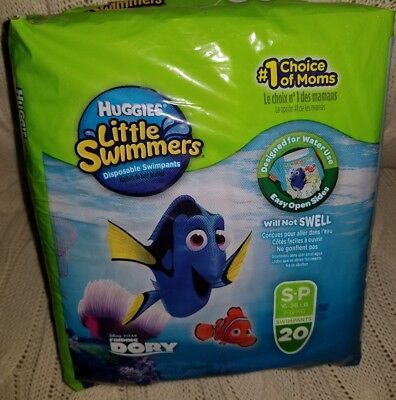 Huggies Little Swimmers Disney Finding Dory SwimPants/Diapers Size S Small *NEW*