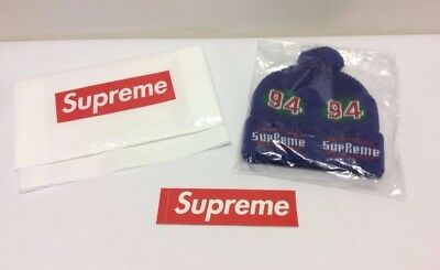 10b56d6b470d9 SUPREME FW17 Leaf Beanie Royal Blue One Size W  Bag and Sticker Deadstock  Hat