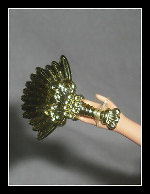 JEWELRY BARBIE DOLL DOTW ANCIENT MEXICO FAUX GOLD CUFF BRACELETS ACCESSORY