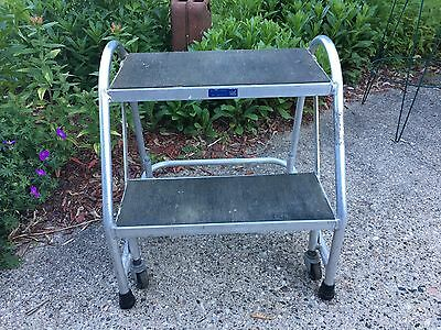 Ballymore Aluminum Standard Rolling Ladder with Spring Loaded Casters USA