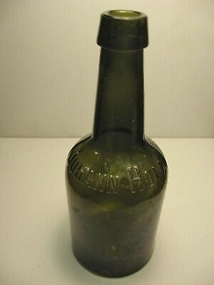 Antique Bottle Dark Olive Green Johann Hoff Malt Extract-